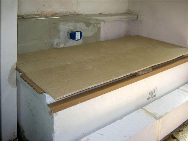 baran gmbh sanit r und heizung projekt badsanierung badewanne einbauen detailansicht. Black Bedroom Furniture Sets. Home Design Ideas