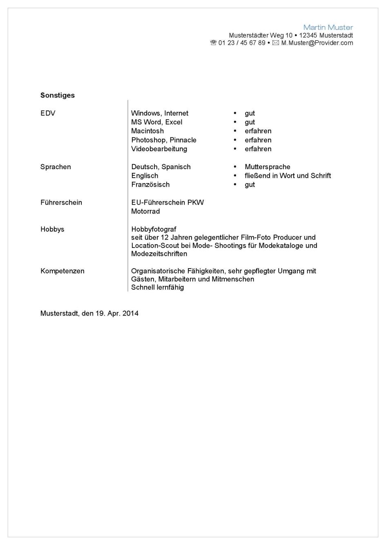 Bewerbungsservice Aktiv - Professionelle Muster Vorlagen für ...