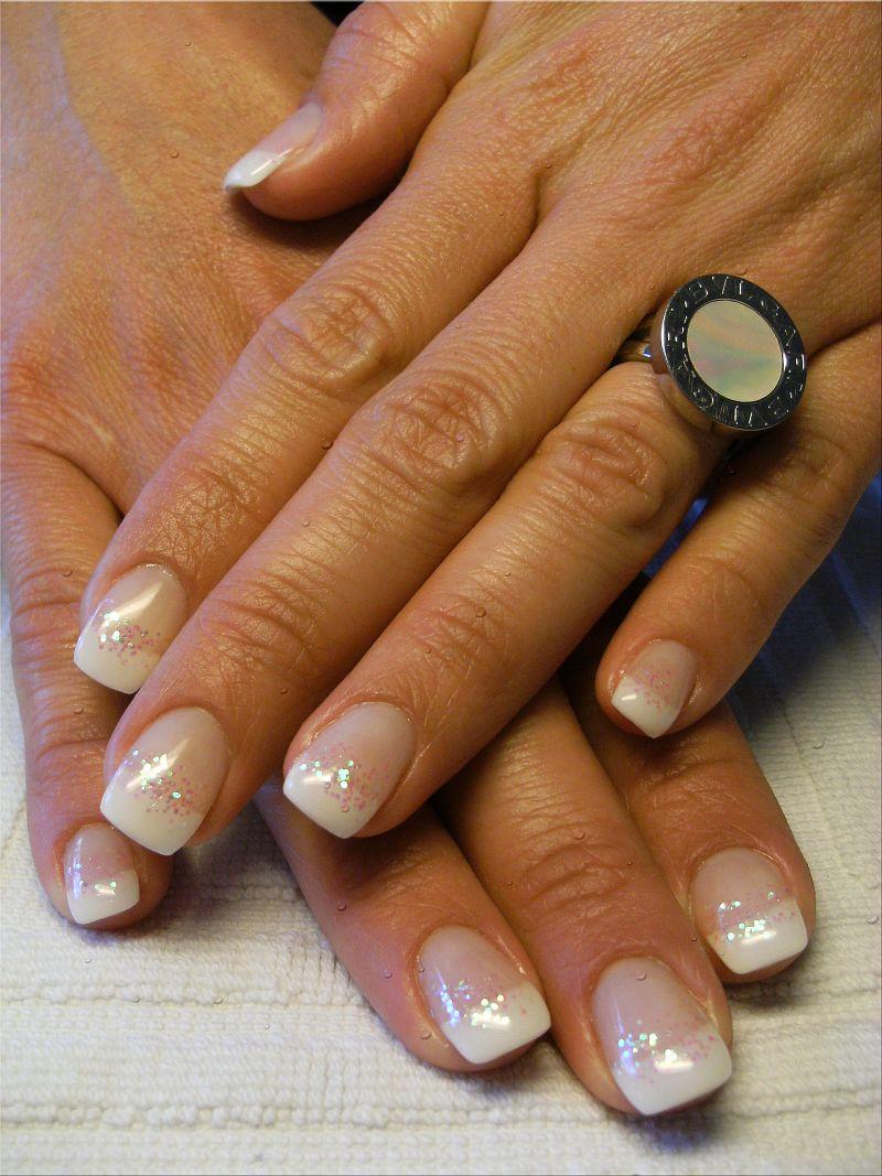 French Manicure Glitter Dream Nails Design In Rheinfelden