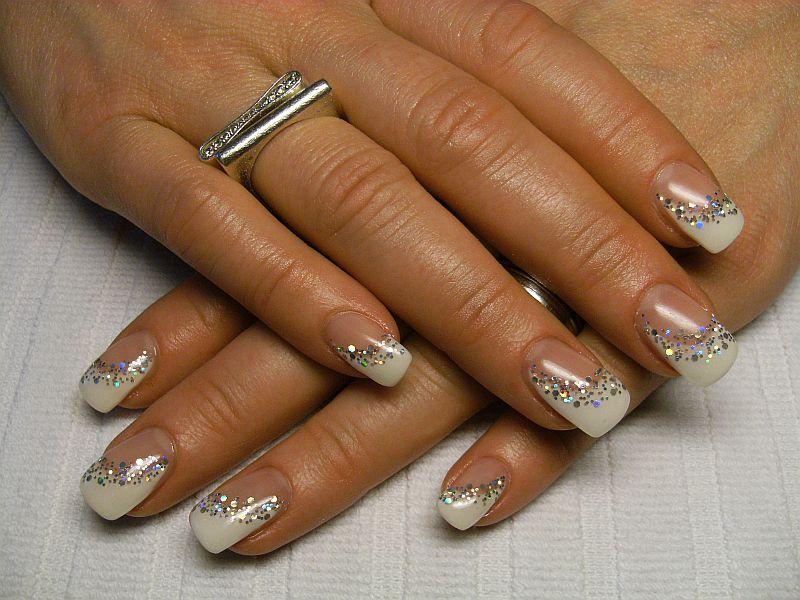 nailart french mit glitter dream nails design in. Black Bedroom Furniture Sets. Home Design Ideas