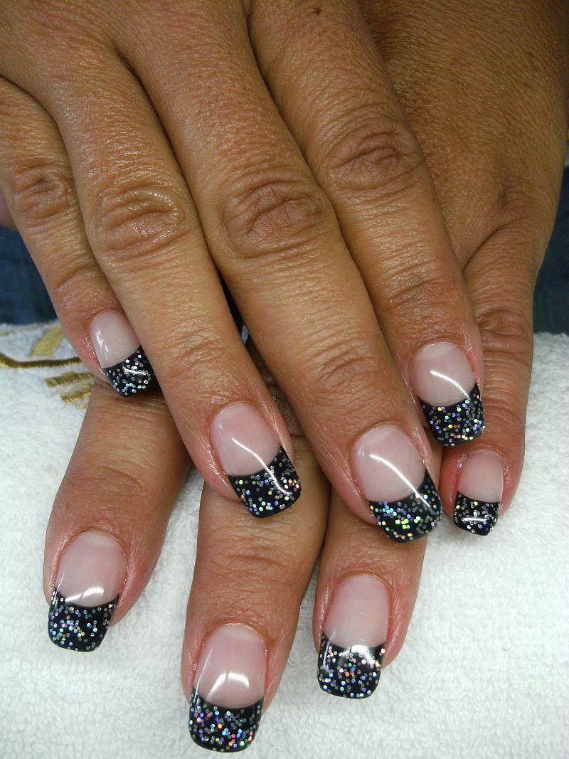 nailart schwarz glitter dream nails design in rheinfelden degerfelden