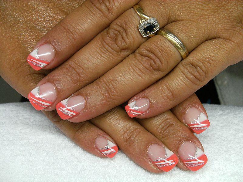 nailart french koralle dream nails design in rheinfelden degerfelden. Black Bedroom Furniture Sets. Home Design Ideas