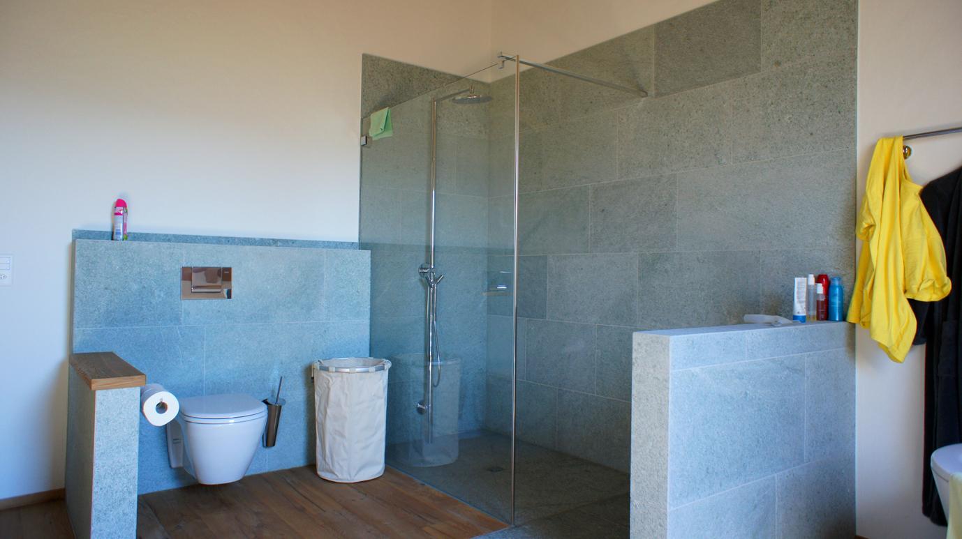 Granitplatte dusche