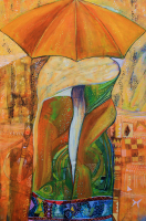 Conversation under the Umbrella 80 x 120 cm 2011