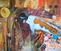 The Saxophone Player 100 x 120 cm 2011