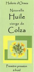 Huile vierge de Colza premiere pression à froid