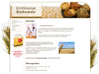 Website Bäckerei