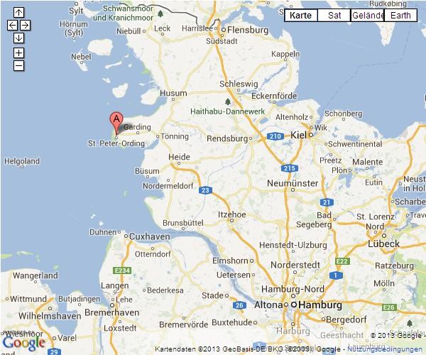 sankt peter ording karte Landkarte Sankt Peter Ording | Deutschland Karte
