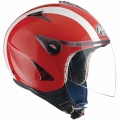 Casque Jet Airoh JT Rouge Brillant Blanc