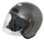 Casque Jet Sun Gris Brillant
