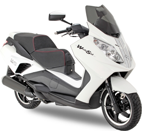 SATELIS 125 WHITESAT, le scooter 125 cm3 Peugeot sureallimenté grace à son compresseur volumétrique en version Premium