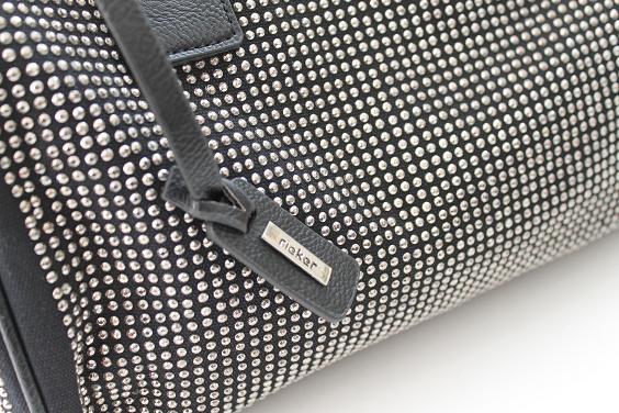 Rieker Bag Tasche Handtasche schwarz Glitzer 30x11x25 NEU/OVP