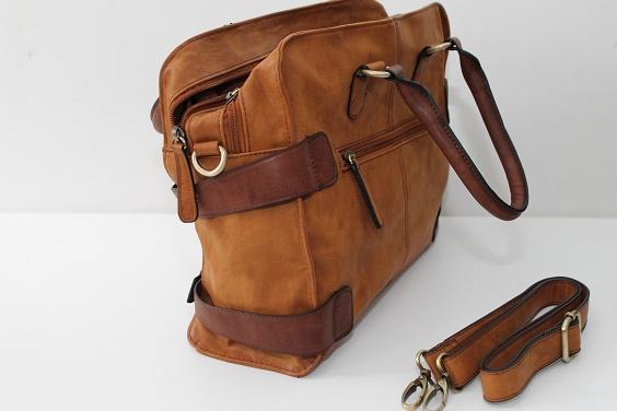 rieker bag tasche handtasche braun leder 34x12x26 neu ovp. Black Bedroom Furniture Sets. Home Design Ideas