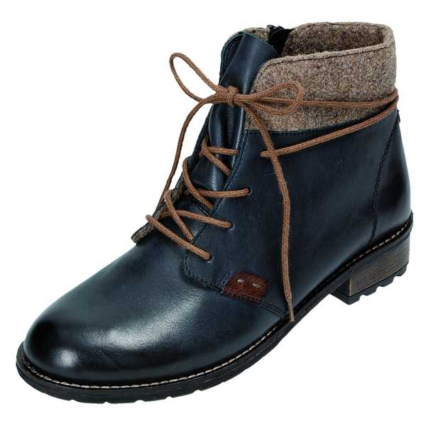Remonte R3332 14 Stiefelette Stiefel Boots Leder blau Gr ...