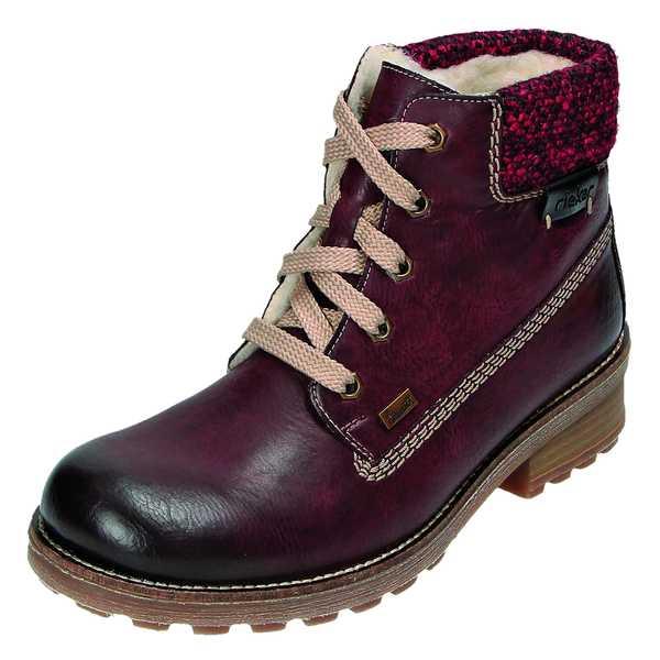 Details zu Rieker Swetlana Z0422 36 Boots Stiefel Rieker Tex Lammwolle rot Gr.37 43 NEU