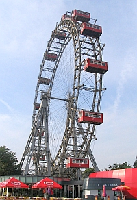 Prater Riesenrad, Vienna, August 2006, Author: Piotr Tysarczyk, Permission: cc-by-sa-2.0, Wikipedia Commons