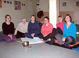Unsere Yoga-Gruppe am Montag