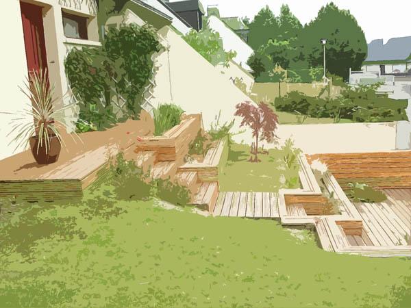 Vert l 39 ouest paysagiste architecte paysagiste conception for Plan 3d jardin