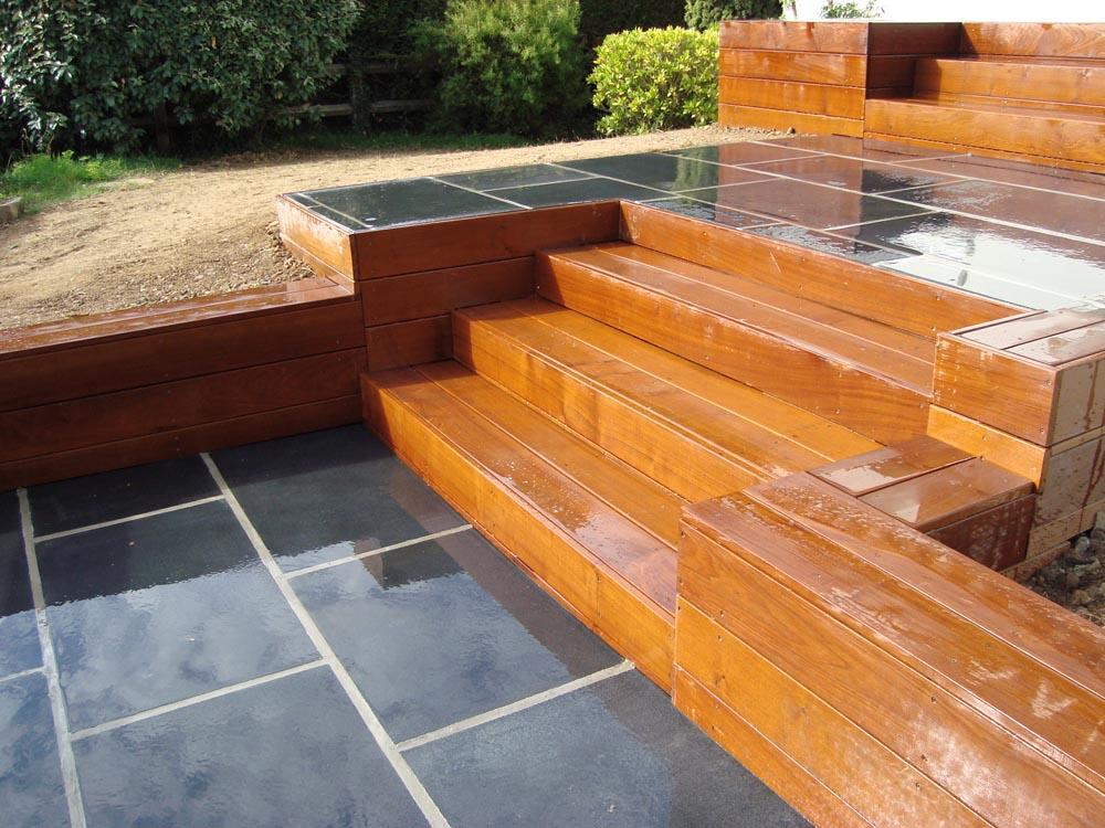 vert l 39 ouest paysagiste escaliers escalier ip dallage noir. Black Bedroom Furniture Sets. Home Design Ideas